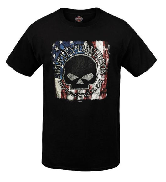 Front view of mens west coast patriotic g t shirt