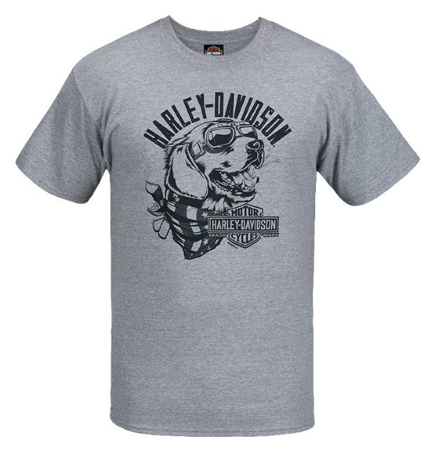 Front view of mens west coast road dog tee dealer t shirt