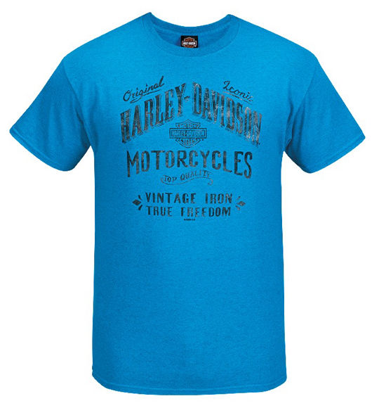 Front view of mens west coast aged sign dealer t shirt