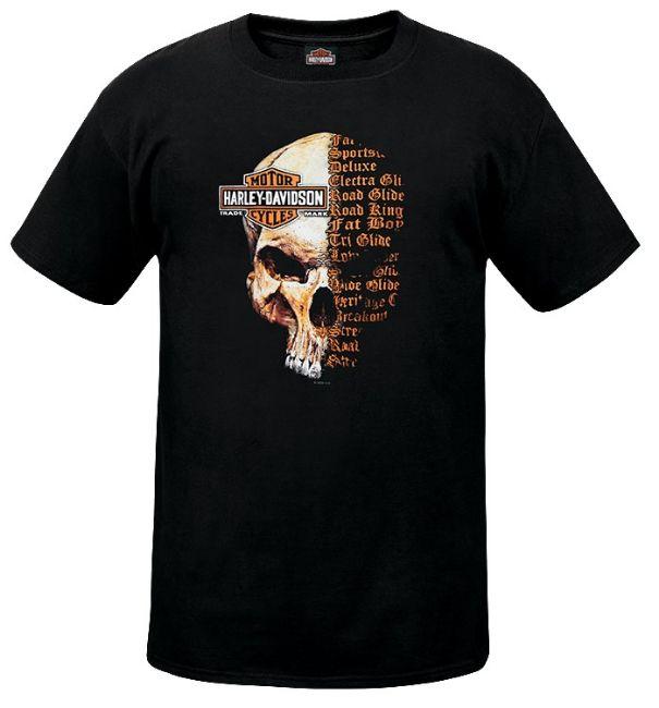 Front view of mens west coast split skull dealer t shirt