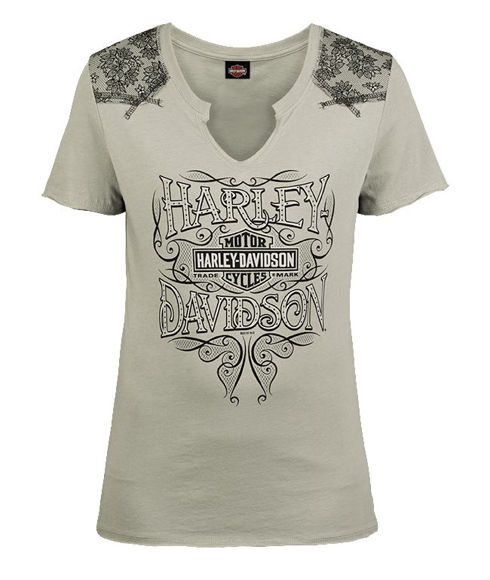 Front view of womens entwine dealer t shirt
