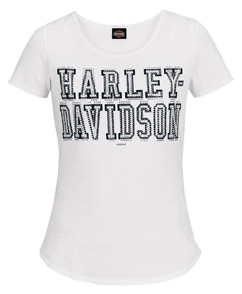 Front view of womens shifty dealer tee