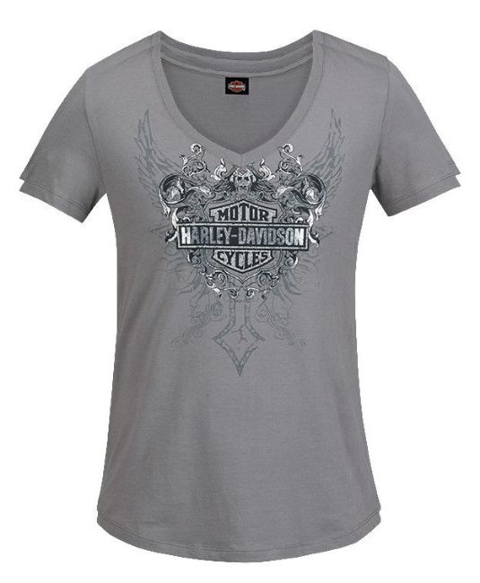 Front view of womens confident tee