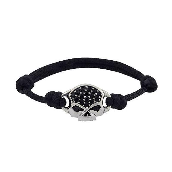 Bracelet mens skull nylon bracelet