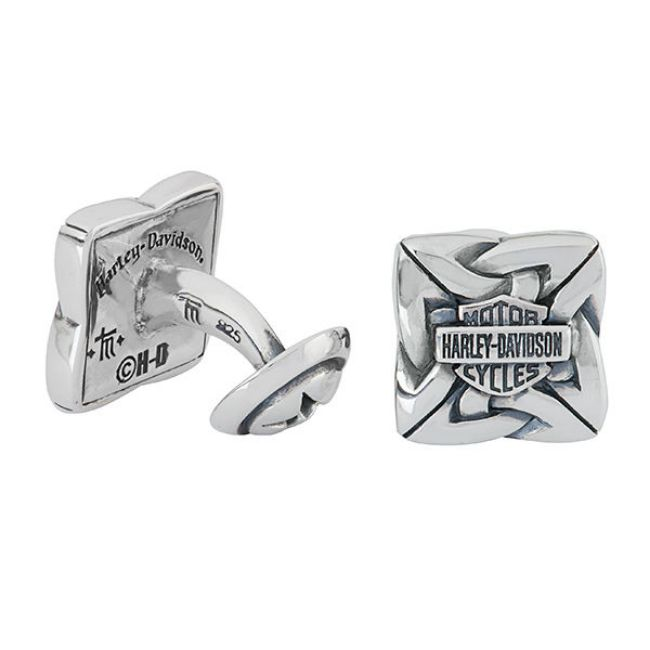 Front view of mens celtic cufflinks