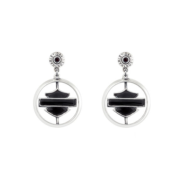 black bling wille g earrings