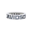 mens silver ring gothic lettering