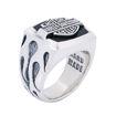 Band mens onyx silver ring
