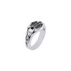 Band womens silver and onyx ring