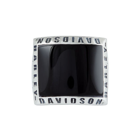 mens plain onyx ring