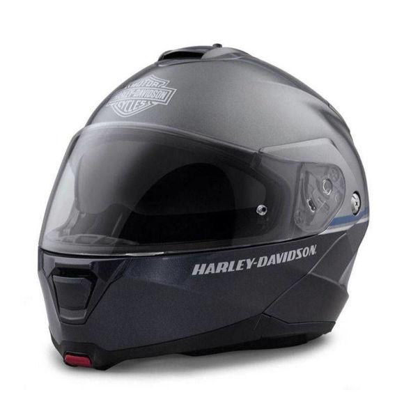 Front view of capstone modular flip helmet grey