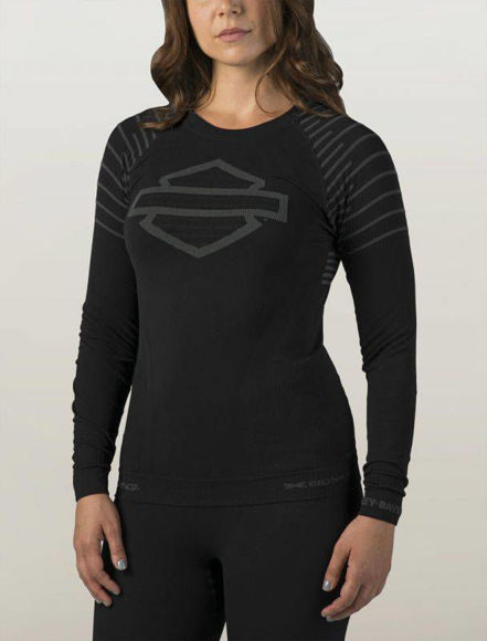 Front view of womens fxrg base layer tee