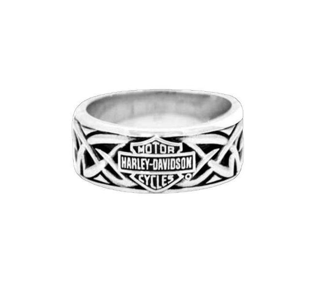 mens silver celtic bar and shield ring