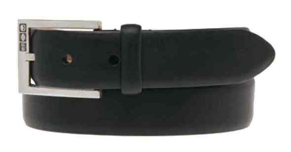 mens all business leather belt