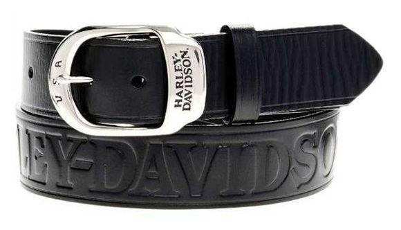 mens slide over black leather belt and buckle