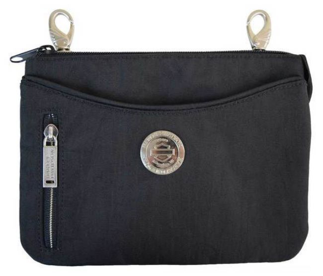 Front view of womens world tour hip bag