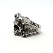 Picture of Engine & Skull Silver Ring