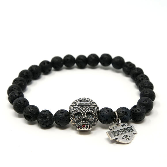 Picture of Black Sugar Skull Bracelet