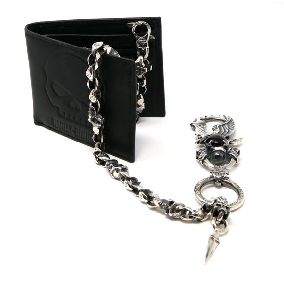 Picture of Men's Silver Eagle Onyx Wallet Chain