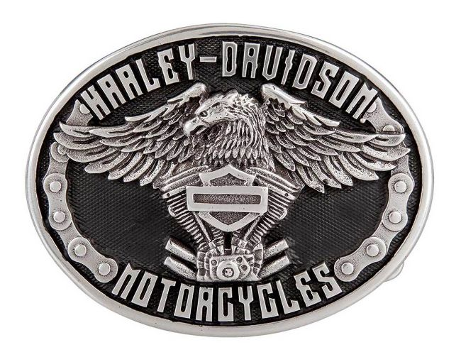 Picture of Eagle Rider Polished Silver Finish Belt Buckle