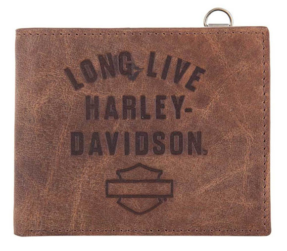 Picture of Men's Long Live Leather Bi-Fold Wallet