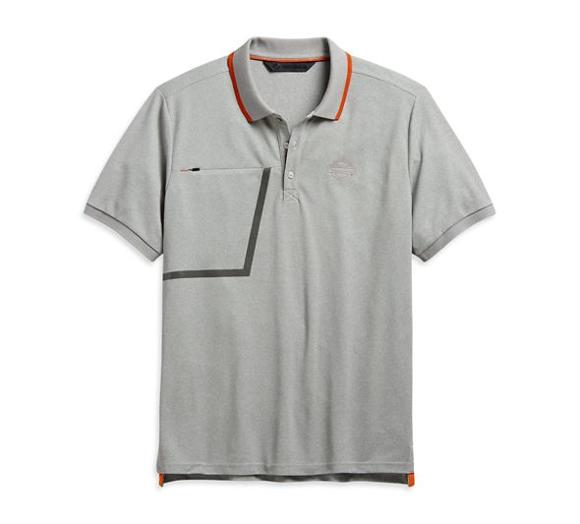 Picture of Men's Slim Fit Zipper Pocket Slim Fit Polo