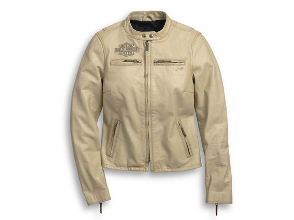 Picture of Women's Chain Stitched Leather Jacket