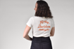 Picture of Women's Distressed Vintage Script V-Neck Tee
