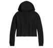 Picture of Women's Black Rusty Butcher Flames Cropped Hoodie
