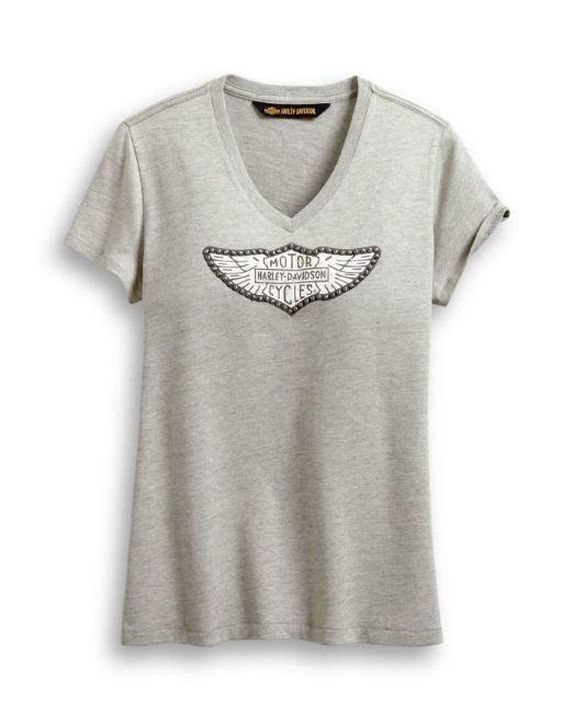 Picture of Women's Distressed Wing Logo Tee