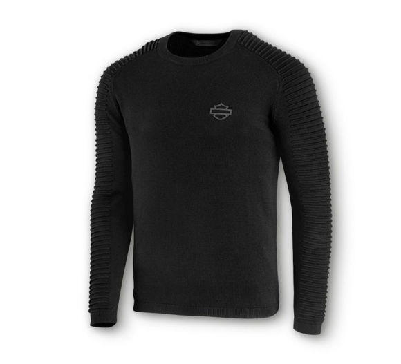 Picture of Men's Sleeve Detail Wool-Blend Sweater