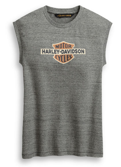 Picture of Women's Distressed Vintage Logo Sleeveless Tee