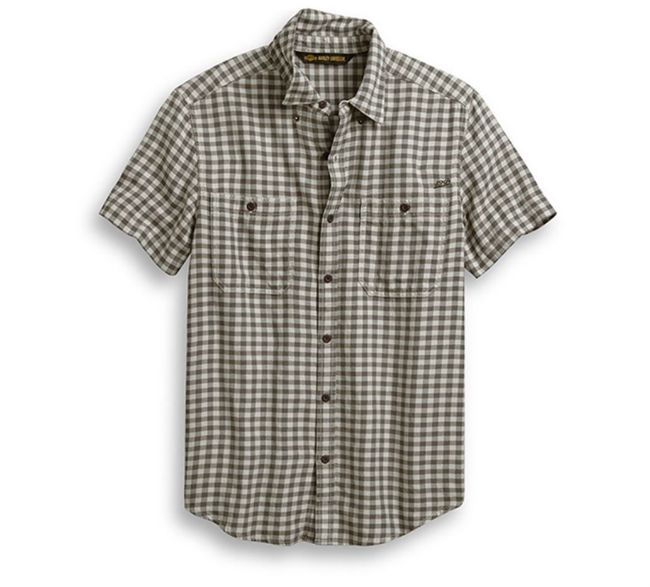 Picture of Men's Chain Stitched Plaid Shirt