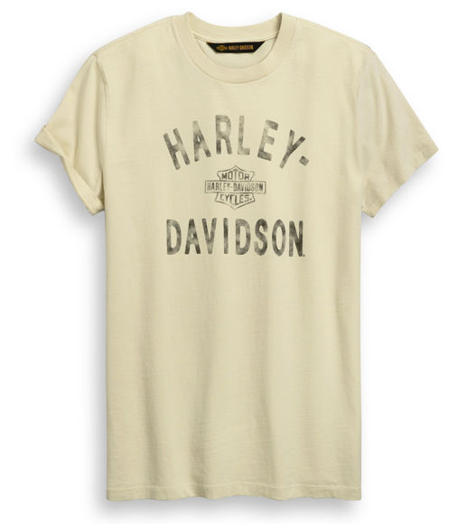 Picture of Men's Sprayed Print Tee - Off White
