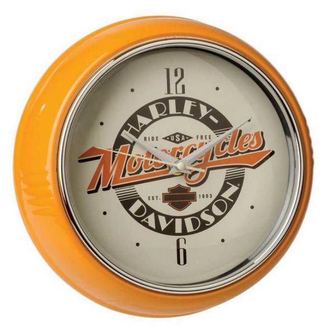 Picture of Ride Free Retro Metal Diner Clock