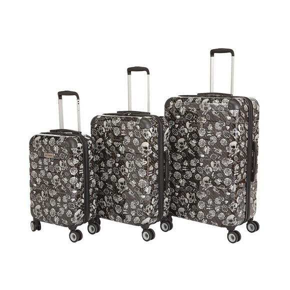 Picture of Small Chrome Molded Luggage - Grey Tattoo - 21""