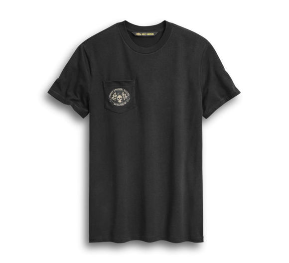 Picture of Men's Skull Flags Pocket Tee