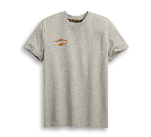 Picture of Men's Distressed Print Logo Tee