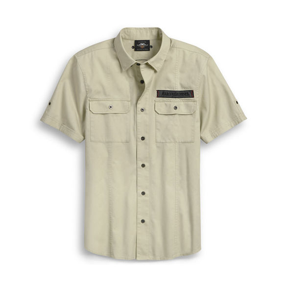 Picture of Men's Raw Edge Patch Shirt
