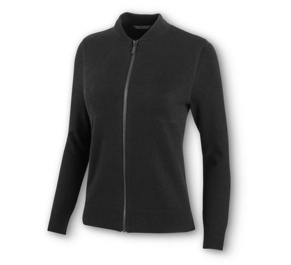 Picture of Women's High Density Print Logo Zip-Front Sweater