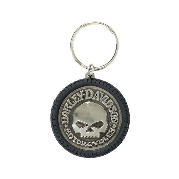 Picture of Willie G Skull Hubcap Keychain