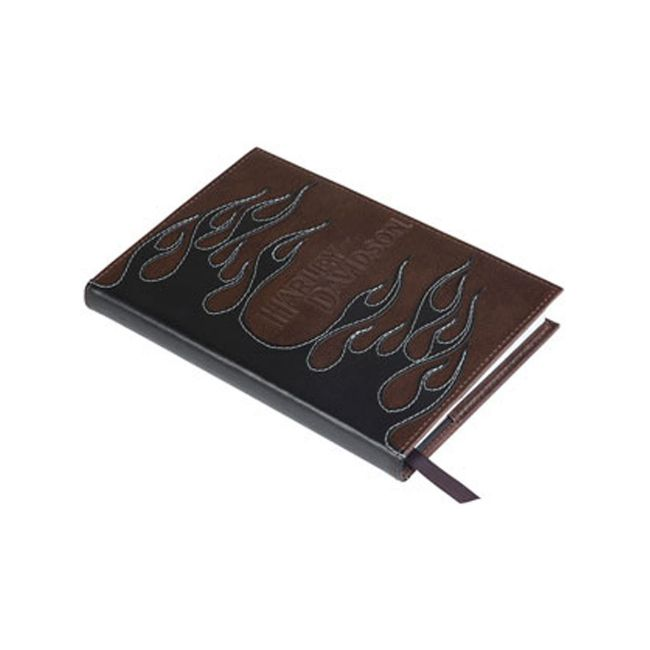 Picture of Leather Flames Journal Cover