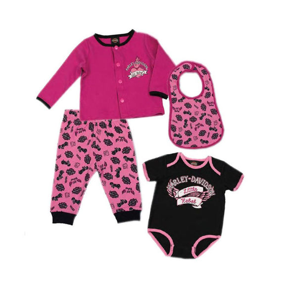 Picture of Baby Girls' Glittery 4 Piece Hanging Gift Set