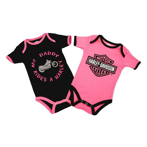 Picture of Baby Girls' Daddy Rides A Harley Creeper Set