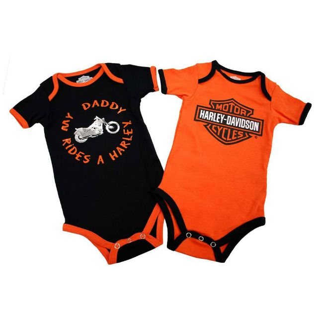 Picture of Baby Boys' Daddy Rides A Harley Creeper Set