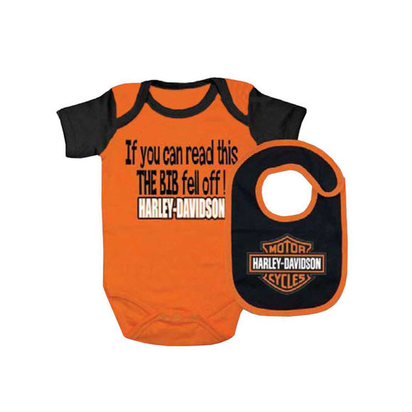 Picture of Baby Boy's Interlock Bar & Shield Creeper and Bib Set