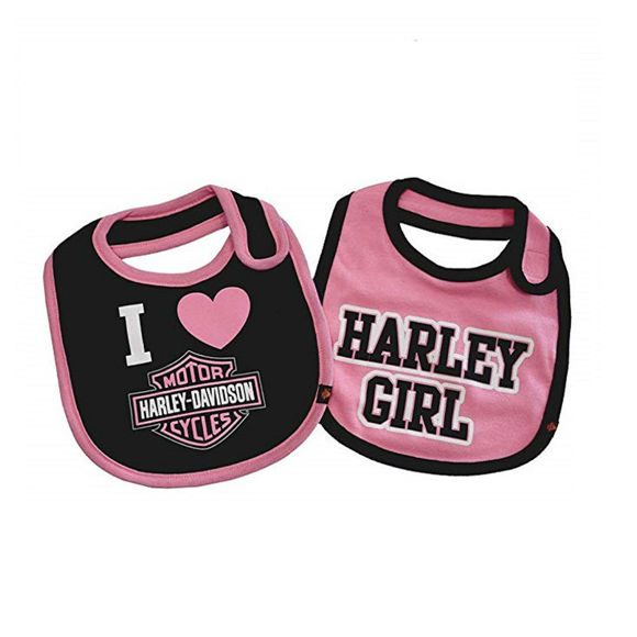 Picture of Baby Girls' Bibs, Bar & Shield Set