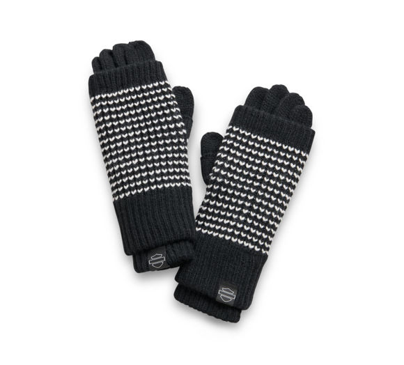 Picture of Women's 3-in-1 Knit Gloves - Black