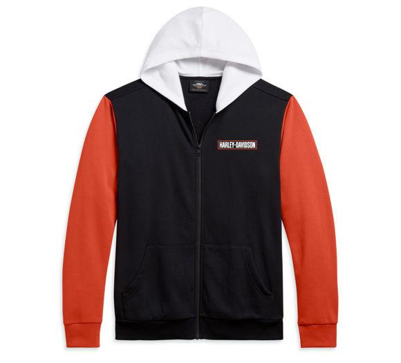 Picture of Men's Colorblock Full Zip Hoodie - Orange