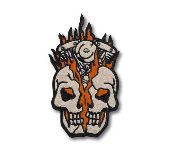 Picture of Skull Bust Iron-On Patch